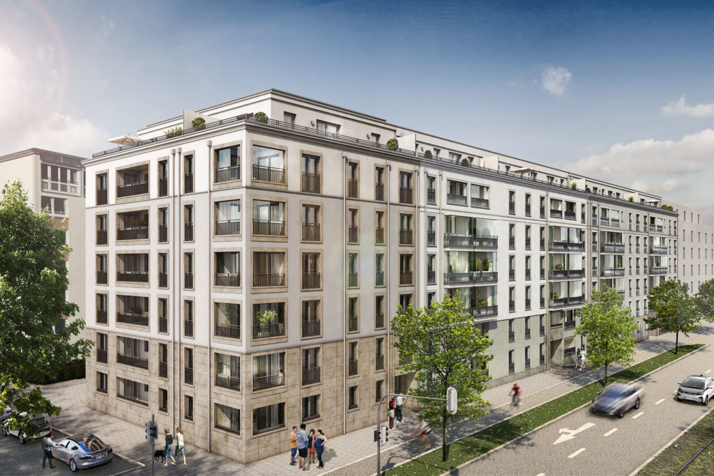 Quartier Neuhausen - Straßenansicht